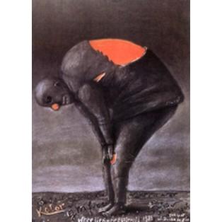 Farbe in Grafik Stasys Eidrigevicius Polnische Ausstellungsplakate