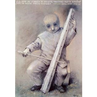 Tage der Musik der alten Meister 16. Stasys Eidrigevicius Polnische Musikplakate