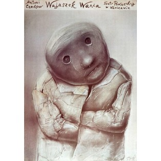 Onkel Wania Powszechny-Theater Warszawa Stasys Eidrigevicius Polnische Theaterplakate