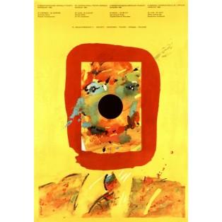 Internationale Plakatbiennale 8. Waldemar Świerzy Polnische Ausstellungsplakate