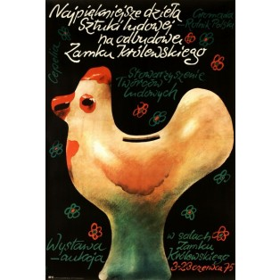Schönsten Werke der Volkskunst Waldemar Świerzy Polnische Ausstellungsplakate