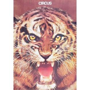 Zirkus Tiger Waldemar Świerzy Polnische Zirkusplakate