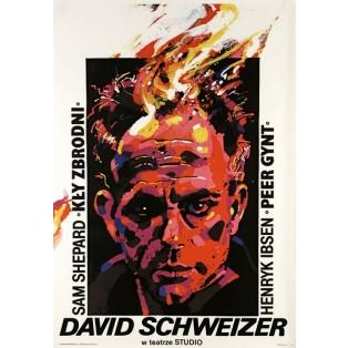 David Schweizer im Studio-Theater Waldemar Świerzy Polnische Theaterplakate