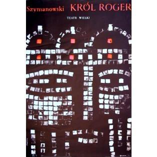 König Roger Karol Szymynowski Waldemar Świerzy Polnische Opernplakate