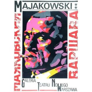 Majakowski - Warschau Waldemar Świerzy Polnische Ausstellungsplakate