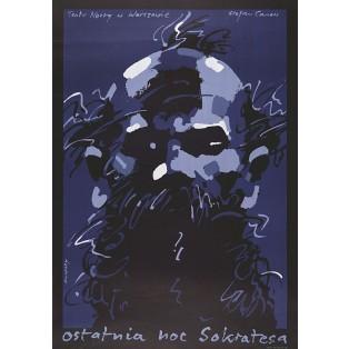 Letzte Nacht von Sokrates Waldemar Świerzy Polnische Theaterplakate