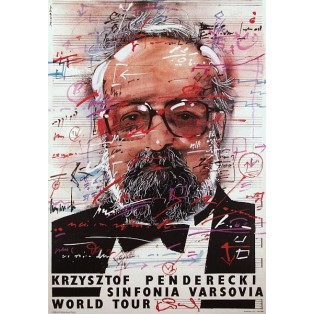 Krzysztof Penderecki Sinfonia Varsovia Waldemar Świerzy Polnische Musikplakate