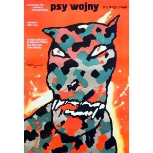 Hunde des Krieges John Irvin Waldemar Świerzy Polnische Filmplakate