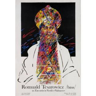 Romuald Tesarowicz in Nabucco Waldemar Świerzy Polnische Opernplakate