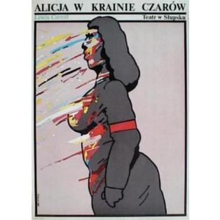 Alice im Wunderland Waldemar Świerzy Polnische Theaterplakate