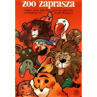 ZOO lädt ein Waldemar Świerzy Polnische Plakate