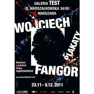 Wojciech Fangor Plakat Test-Galerie  Waldemar Świerzy Polnische Ausstellungsplakate