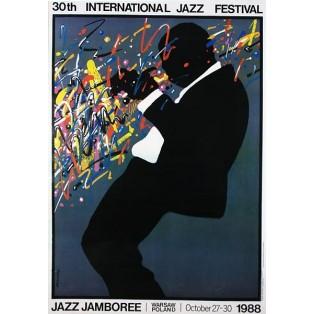 Jazz Jamboree 1988 Waldemar Świerzy Polnische Musikplakate