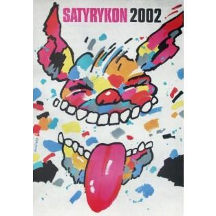 Satyrykon 2002 Waldemar Świerzy Polnische Ausstellungsplakate
