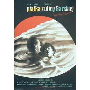 Fünf von der Barskastrasse Aleksander Ford Henryk Tomaszewski Polnische Filmplakate