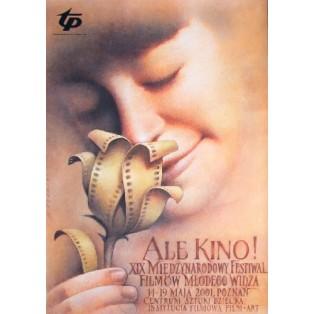 Ale Kino! 19. Kinderfilmfestiwal Wiesław Wałkuski Polnische Filmplakate