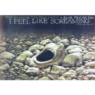 I feel like screaming Jacek Skalski Wiesław Wałkuski Polnische Filmplakate