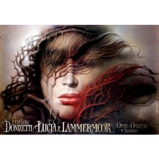 Lucia di Lammermoor Wiesław Wałkuski Polnische Opernplakate