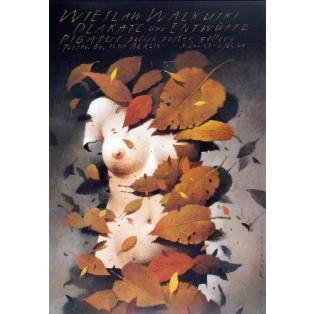 Plakate und Entwürfe Wiesław Wałkuski Wiesław Wałkuski Polnische Ausstellungsplakate