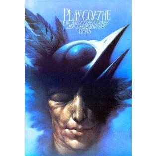 Play Goethe Wiesław Wałkuski Polnische Theaterplakate