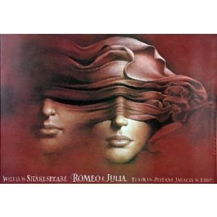 Romeo und Julia - Łódź Wiesław Wałkuski Polnische Theaterplakate