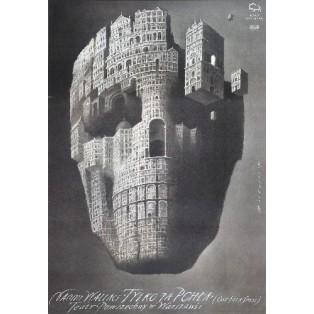 Nur ein Floh Wiesław Wałkuski Polnische Theaterplakate