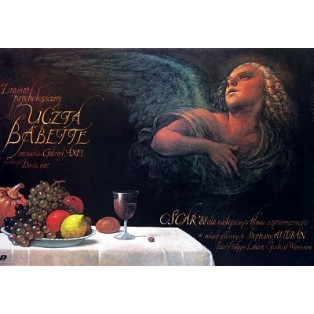 Babettes Fest Gabriel Axel Wiesław Wałkuski Polnische Filmplakate