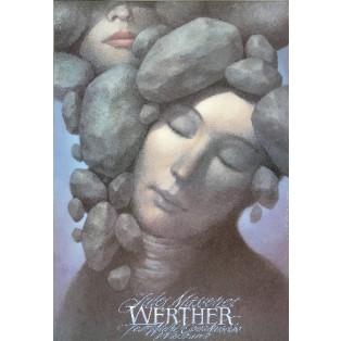 Werther Wiesław Wałkuski Polnische Opernplakate