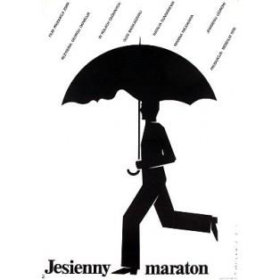 Marathon im Herbst Georgi Daneliya Mieczysław Wasilewski Polnische Filmplakate