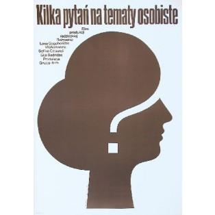 Einige persönliche Fragen Lana Gogoberidze Mieczysław Wasilewski Polnische Filmplakate