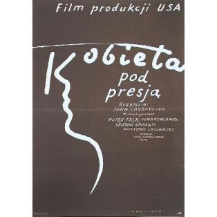 Eine Frau unter Einfluß Mieczysław Wasilewski Polnische Filmplakate
