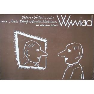 Fellinis Intervista Federico Fellini Mieczysław Wasilewski Polnische Filmplakate