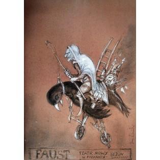 Faust Janusz Wiśniewski Polnische Theaterplakate