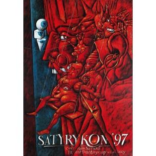 Satyrykon 1997 Leszek Wiśniewski Polnische Ausstellungsplakate