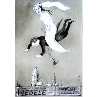 Hochzeit Janusz Wiśniewski Polnische Theaterplakate