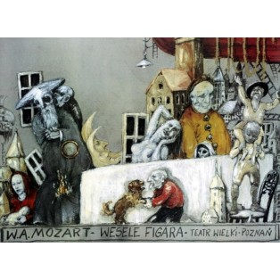 Figaros Hochzeit Le nozze di Figaro Janusz Wiśniewski Polnische Opernplakate