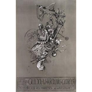 Alice im Wunderland Janusz Wiśniewski Polnische Theaterplakate