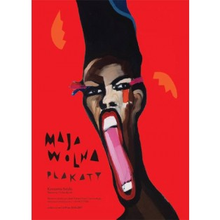 Maja Wolna Plakatausstellung Maja Wolna Polnische Ausstellungsplakate