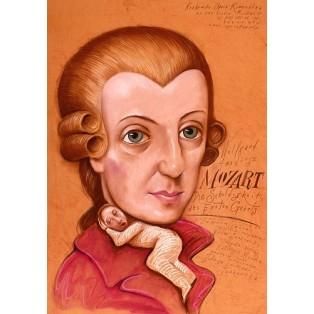 Schuldigkeit des Ersten Gebots Leszek Żebrowski Polnische Opernplakate