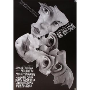 Nächte der Schwestern Bronte Leszek Żebrowski Polnische Theaterplakate