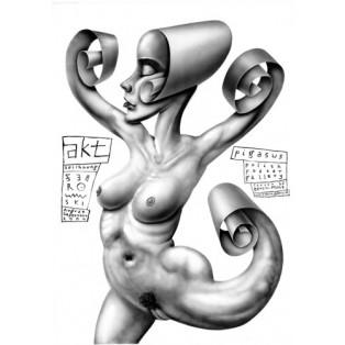 Aktkunst in Pigasus - Polish Poster Gallery Leszek Żebrowski Polnische Ausstellungsplakate
