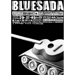 Bluesada - Bluesfestival XI Leszek Żebrowski Polnische Musikplakate