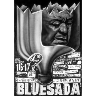 Bluesada - Bluesfestival Leszek Żebrowski Polnische Musikplakate