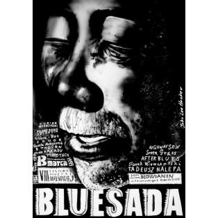 Bluesada John Lee Hooker Leszek Żebrowski Polnische Musikplakate