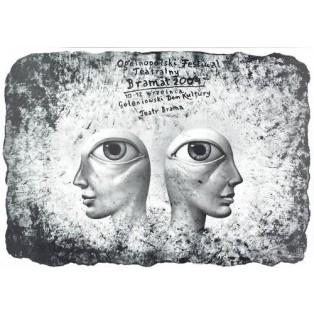 Bramat Theatertreff Leszek Żebrowski Polnische Theaterplakate