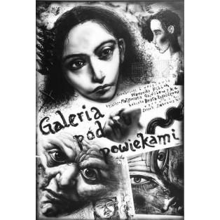 Galerie unter den Augenliedern Leszek Żebrowski Polnische Plakate