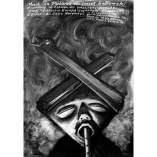 Musik in Plakaten Leszek Żebrowski Polnische Ausstellungsplakate