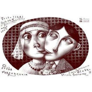 Erkennungsversuch - Die Hochzeit  Witold Gombrowicz Leszek Żebrowski Polnische Theaterplakate