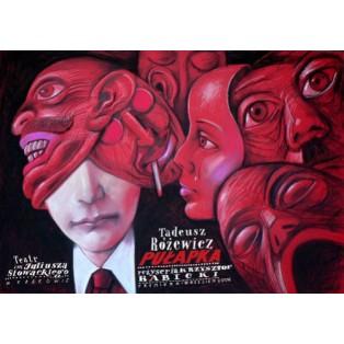 Falle, die Leszek Żebrowski Polnische Theaterplakate