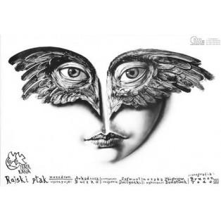Paradiesvogel Leszek Żebrowski Polnische Theaterplakate